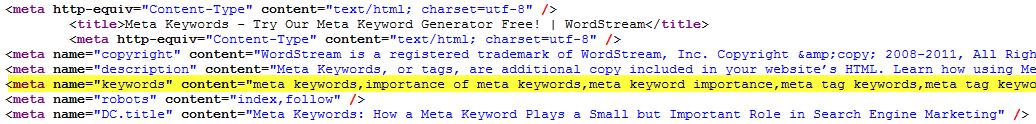 keywords_ornek