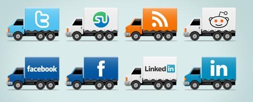 sosyal kamyon iconları